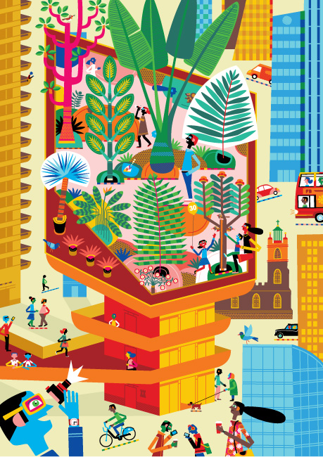 Third Floor Jungle, The Serco Prize for Illustration 2012 Secret London Exhibition
